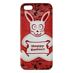 Cute Bunny Happy Easter Drawing Illustration Design Apple Iphone 5 Premium Hardshell Case by dflcprints