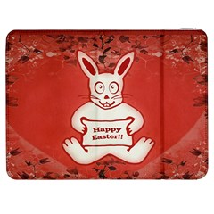 Cute Bunny Happy Easter Drawing Illustration Design Samsung Galaxy Tab 7  P1000 Flip Case by dflcprints