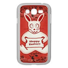 Cute Bunny Happy Easter Drawing Illustration Design Samsung Galaxy Grand Duos I9082 Case (white) by dflcprints