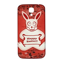 Cute Bunny Happy Easter Drawing Illustration Design Samsung Galaxy S4 I9500/i9505  Hardshell Back Case by dflcprints