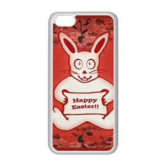 Cute Bunny Happy Easter Drawing Illustration Design Apple Iphone 5c Seamless Case (white) by dflcprints