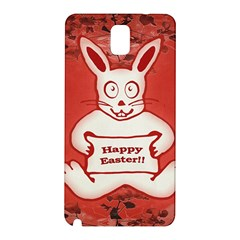 Cute Bunny Happy Easter Drawing Illustration Design Samsung Galaxy Note 3 N9005 Hardshell Back Case by dflcprints