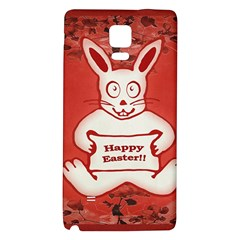 Cute Bunny Happy Easter Drawing Illustration Design Samsung Note 4 Hardshell Back Case by dflcprints