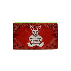 Cute Bunny Happy Easter Drawing Illustration Design Cosmetic Bag (xs) by dflcprints