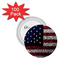 American Flag In Glitter Photograph 1 75  Button (100 Pack) by bloomingvinedesign