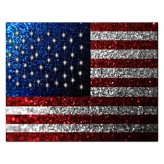 American Flag In Glitter Photograph Jigsaw Puzzle (rectangle) by bloomingvinedesign