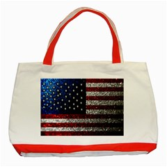 American Flag In Glitter Photograph Classic Tote Bag (red) by bloomingvinedesign