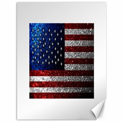 American Flag In Glitter Photograph Canvas 36  X 48  (unframed) by bloomingvinedesign