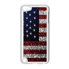 American Flag In Glitter Photograph Apple Ipod Touch 5 Case (white) by bloomingvinedesign
