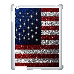 American Flag In Glitter Photograph Apple Ipad 3/4 Case (white) by bloomingvinedesign