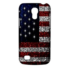 American Flag In Glitter Photograph Samsung Galaxy S4 Mini (gt I9190) Hardshell Case  by bloomingvinedesign