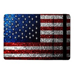 American Flag In Glitter Photograph Samsung Galaxy Tab Pro 10 1  Flip Case by bloomingvinedesign