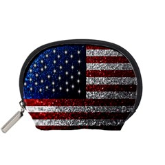 American Flag in Glitter Photograph Accessory Pouch (Small) by bloomingvinedesign