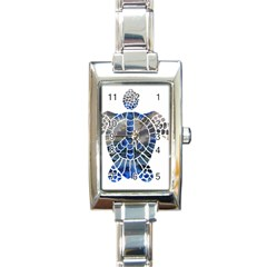 Peace Turtle Rectangular Italian Charm Watch by oddzodd