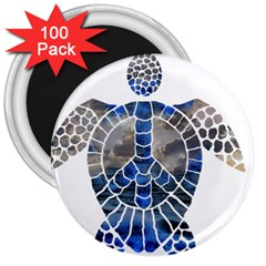 Peace Turtle 3  Button Magnet (100 Pack) by oddzodd