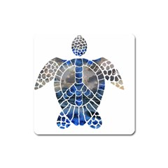 Peace Turtle Magnet (square) by oddzodd