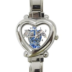 Peace Turtle Heart Italian Charm Watch  by oddzodd