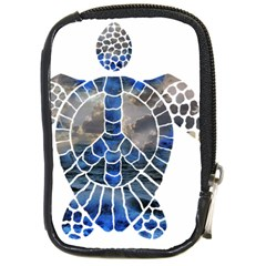 Peace Turtle Compact Camera Leather Case by oddzodd