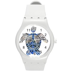 Peace Turtle Plastic Sport Watch (medium) by oddzodd