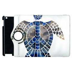 Peace Turtle Apple Ipad 3/4 Flip 360 Case by oddzodd