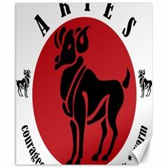 Aries Horoscope Zodiac Sign Birthday Canvas 8  X 10  (unframed) by tematika