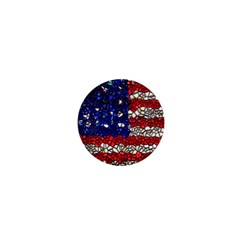 American Flag Mosaic 1  Mini Button Magnet by bloomingvinedesign