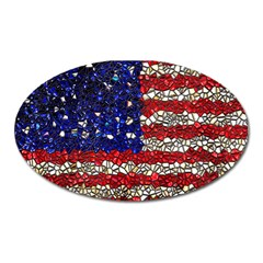 American Flag Mosaic Magnet (oval) by bloomingvinedesign