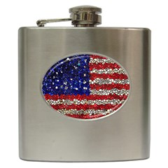 American Flag Mosaic Hip Flask by bloomingvinedesign