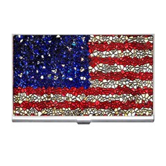 American Flag Mosaic Business Card Holder by bloomingvinedesign