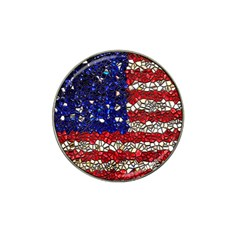 American Flag Mosaic Golf Ball Marker 4 Pack (for Hat Clip) by bloomingvinedesign