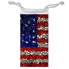 American Flag Mosaic Jewelry Bag by bloomingvinedesign