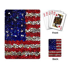 American Flag Mosaic Playing Cards Single Design by bloomingvinedesign