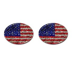 American Flag Mosaic Cufflinks (oval) by bloomingvinedesign
