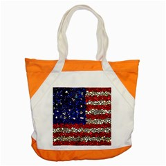 American Flag Mosaic Accent Tote Bag by bloomingvinedesign