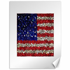 American Flag Mosaic Canvas 36  X 48  (unframed) by bloomingvinedesign