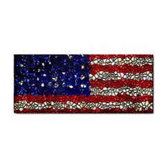 American Flag Mosaic Hand Towel by bloomingvinedesign