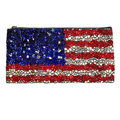 American Flag Mosaic Pencil Case by bloomingvinedesign