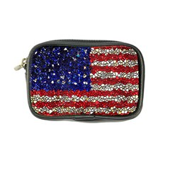 American Flag Mosaic Coin Purse by bloomingvinedesign