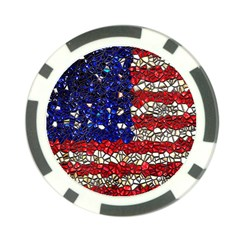 American Flag Mosaic Poker Chip (10 Pack) by bloomingvinedesign