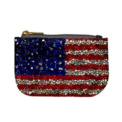 American Flag Mosaic Coin Change Purse by bloomingvinedesign