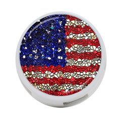 American Flag Mosaic 4 Port Usb Hub (two Sides) by bloomingvinedesign