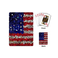 American Flag Mosaic Playing Cards (mini) by bloomingvinedesign
