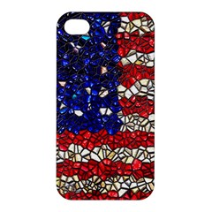 American Flag Mosaic Apple Iphone 4/4s Hardshell Case by bloomingvinedesign