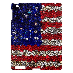 American Flag Mosaic Apple Ipad 3/4 Hardshell Case by bloomingvinedesign