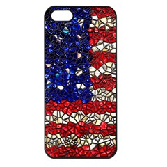 American Flag Mosaic Apple Iphone 5 Seamless Case (black) by bloomingvinedesign