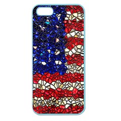 American Flag Mosaic Apple Seamless Iphone 5 Case (color) by bloomingvinedesign