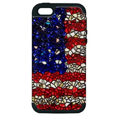 American Flag Mosaic Apple Iphone 5 Hardshell Case (pc+silicone) by bloomingvinedesign
