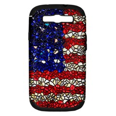 American Flag Mosaic Samsung Galaxy S Iii Hardshell Case (pc+silicone) by bloomingvinedesign