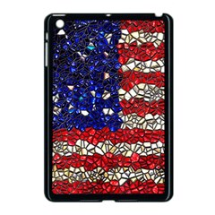 American Flag Mosaic Apple Ipad Mini Case (black) by bloomingvinedesign