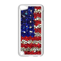 American Flag Mosaic Apple Ipod Touch 5 Case (white) by bloomingvinedesign